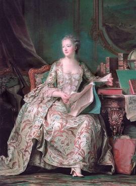 Madame de Pompadour (M. Quentin de la Tour, vers 1750) Musée du Louvre