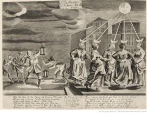 L'Influance de la lune sur la teste de femmes (Source : Gallica)